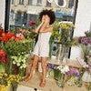 Lauren Jersey Romper, White Ditsy Flower - Rompers - 4