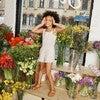 Lauren Jersey Romper, White Ditsy Flower - Rompers - 5