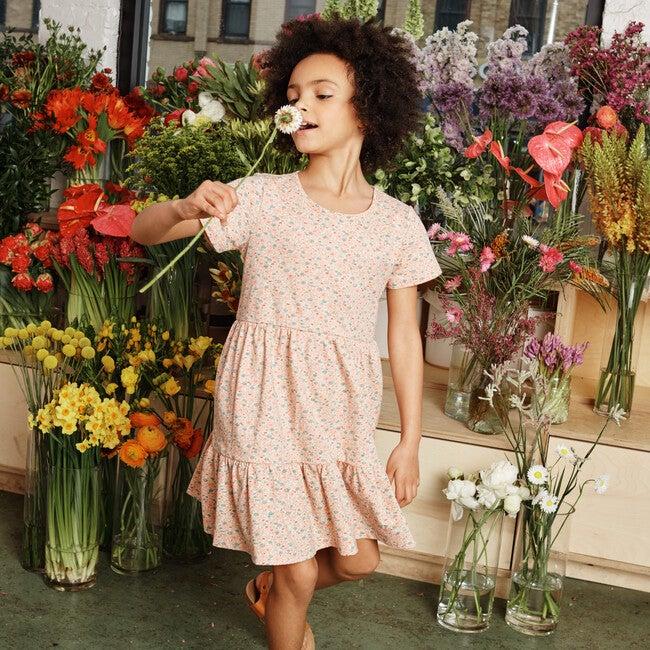 Pauline Dress, Pink Ditsy Flower