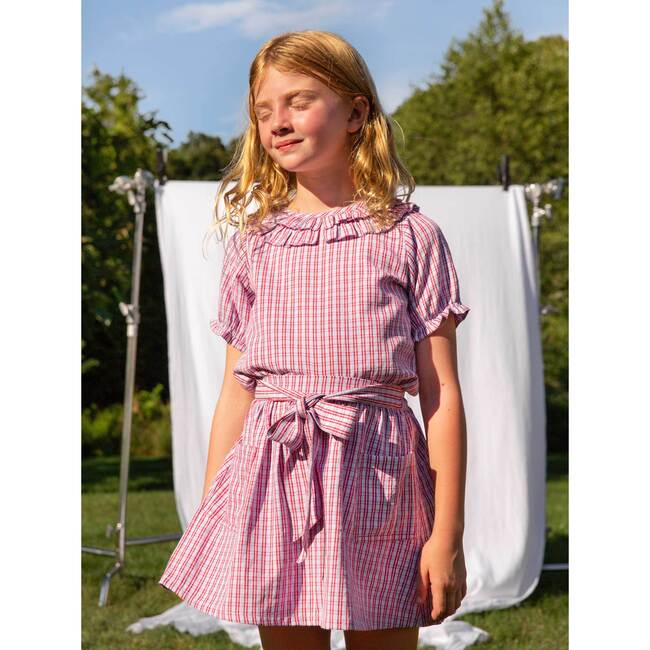 Willow Bow Skirt, Lavender Check