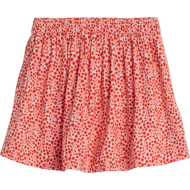 Willow Bow Skirt, Pink Ditsy Floral
