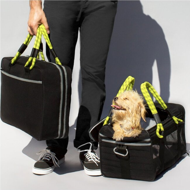 Out-of-Office Carry-All, Black and Yellow