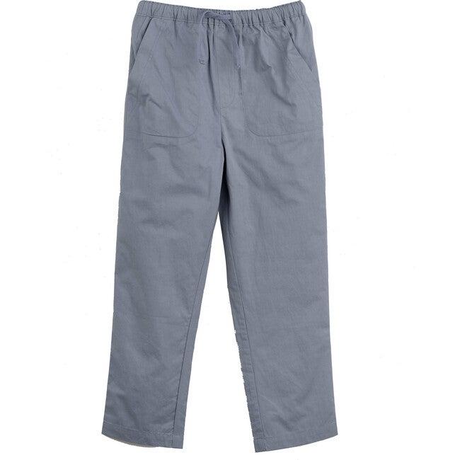 Gunnar Drawstring Pant, Dusty Blue - Pants - 1