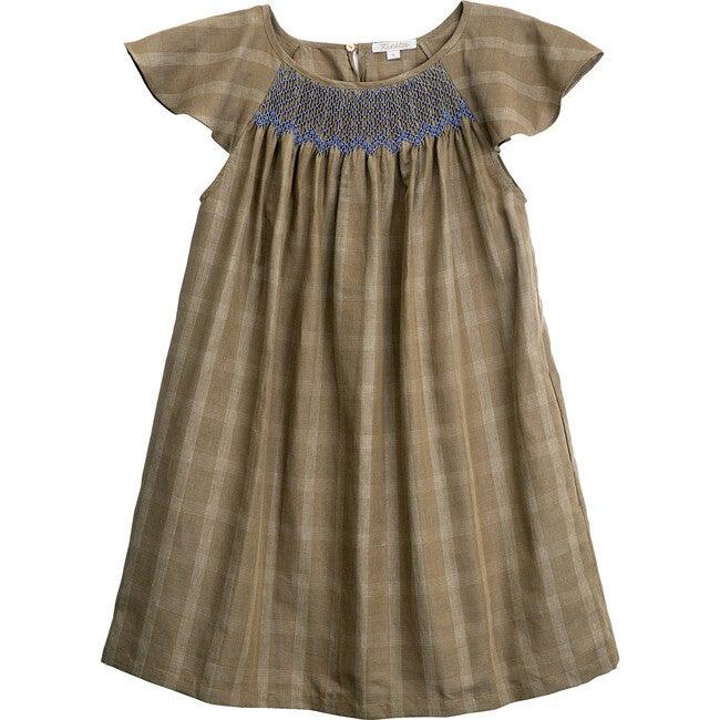 Women's Isla Santa Cruz Dress, Olive Check