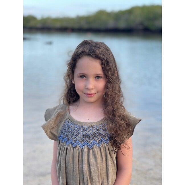 Isla Santa Cruz Dress, Olive Check