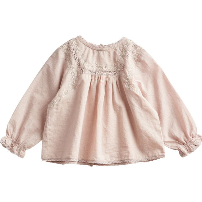 Lace & Embroidery Blouse, Beige