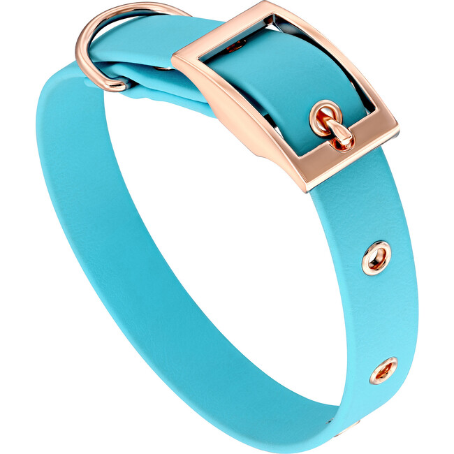 Collar, Rose Gold and Blue