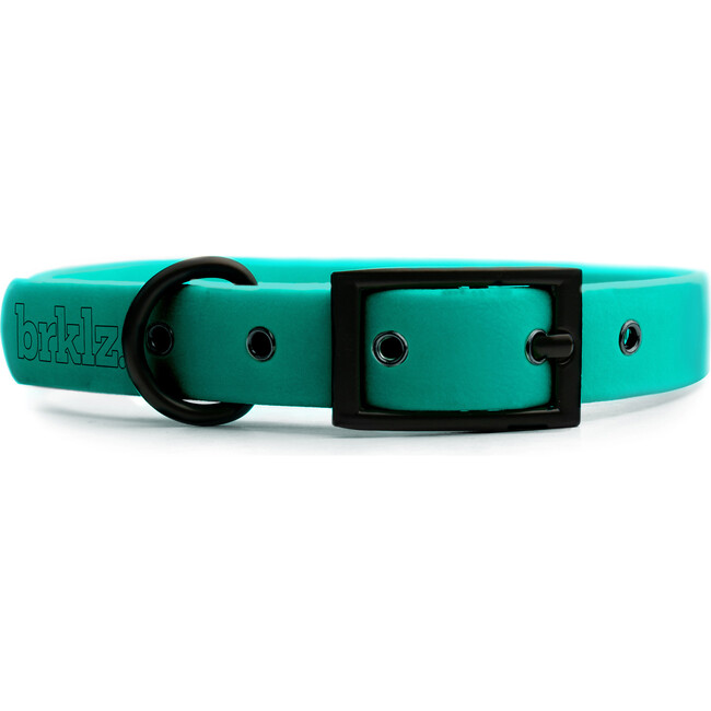 Collar, Matte Black and Turquoise