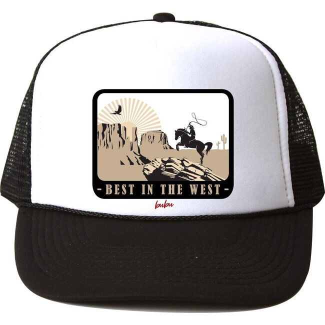 Best In The West Hat, Black and White - Hats - 1