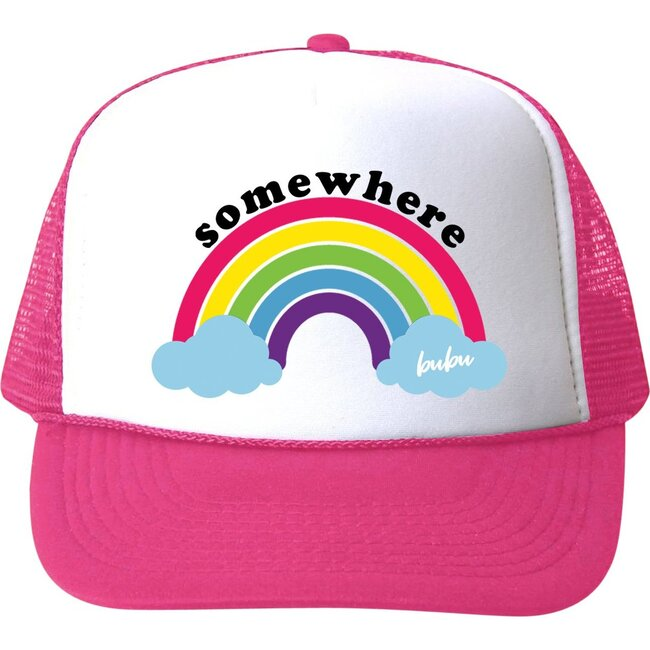 Somewhere Over The Rainbow Hat, Hot Pink