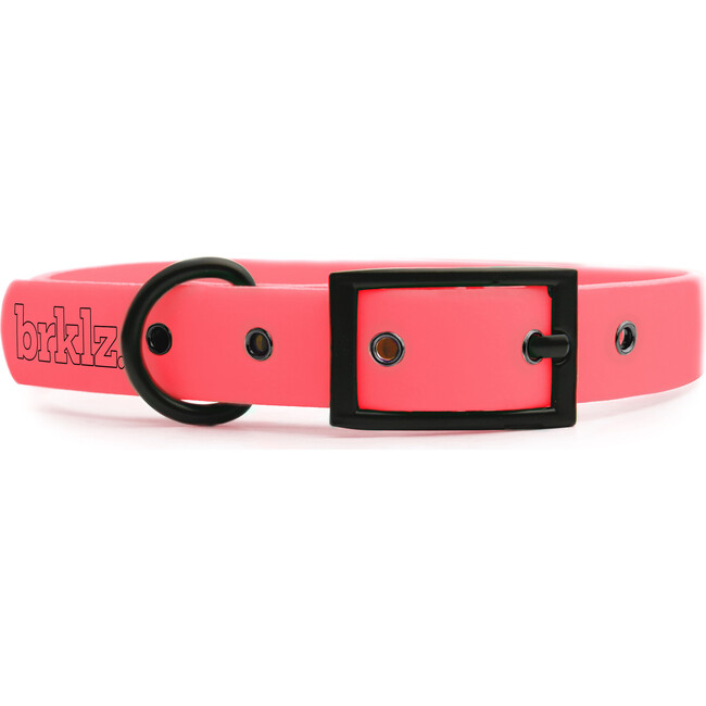Collar, Matte Black and Coral