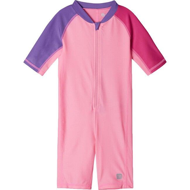 Vesihiisi Swim Overall, Neon Pink