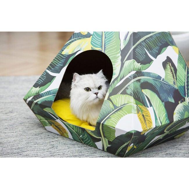 Cat Diamond, Leaf With Yellow Cushion