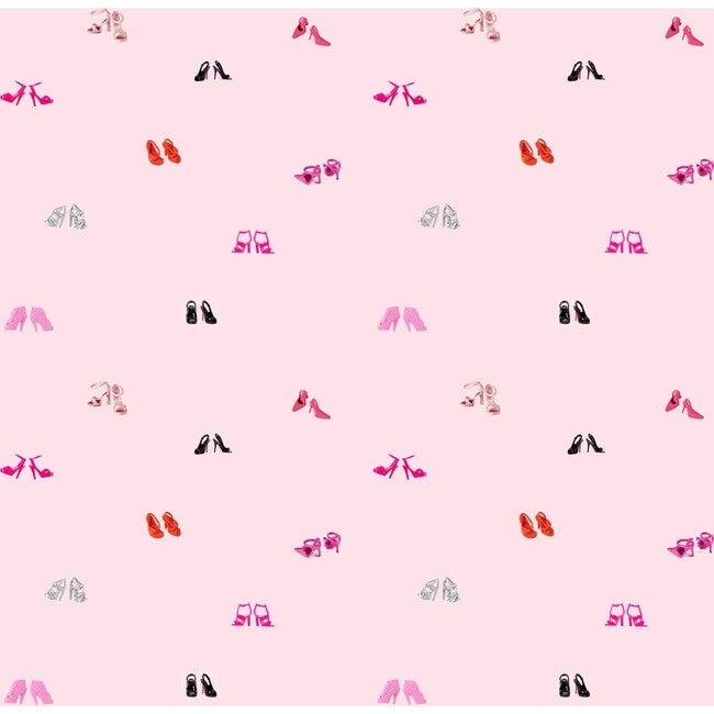 Barbie Heel Toss Traditional Wallpaper, Pink