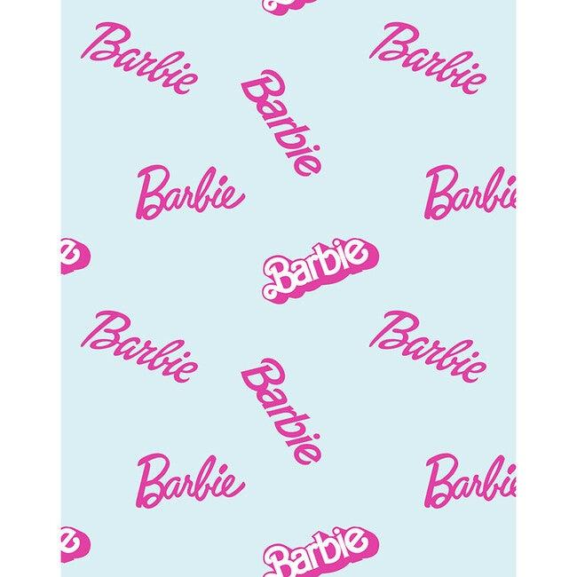 Barbie Logo Mix Traditional Wallpaper, Pale Blue
