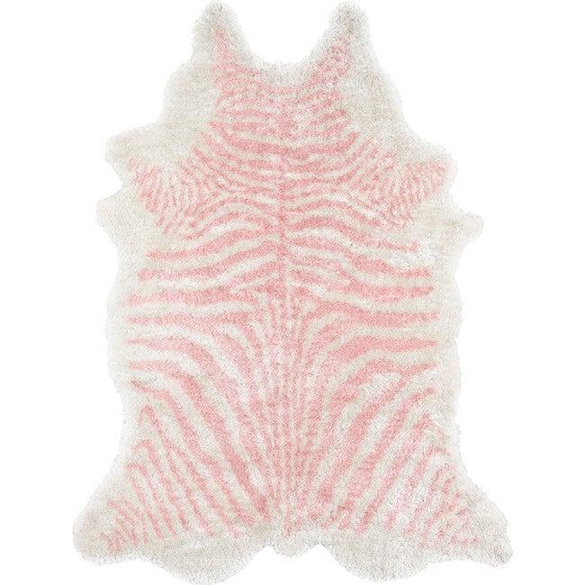 Kalahari Faux Shag Hand-Tufted Rug, Pink