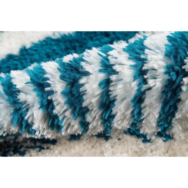 Kalahari Faux Shag Hand-Tufted Rug, Turquoise