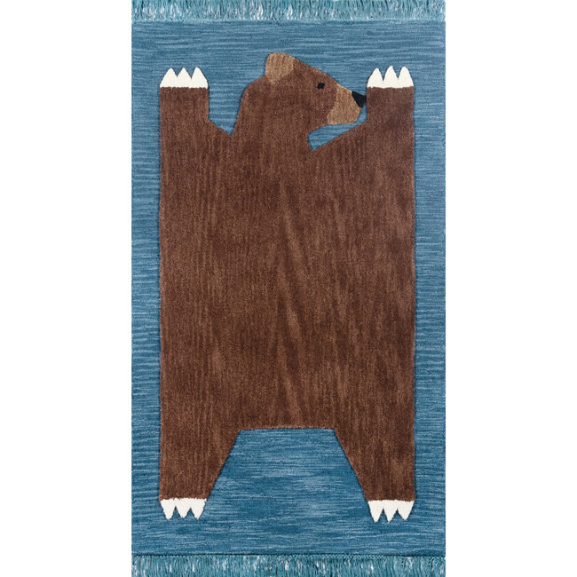 Atticus Teddy Hand-Tufted Wool Rug, Navy