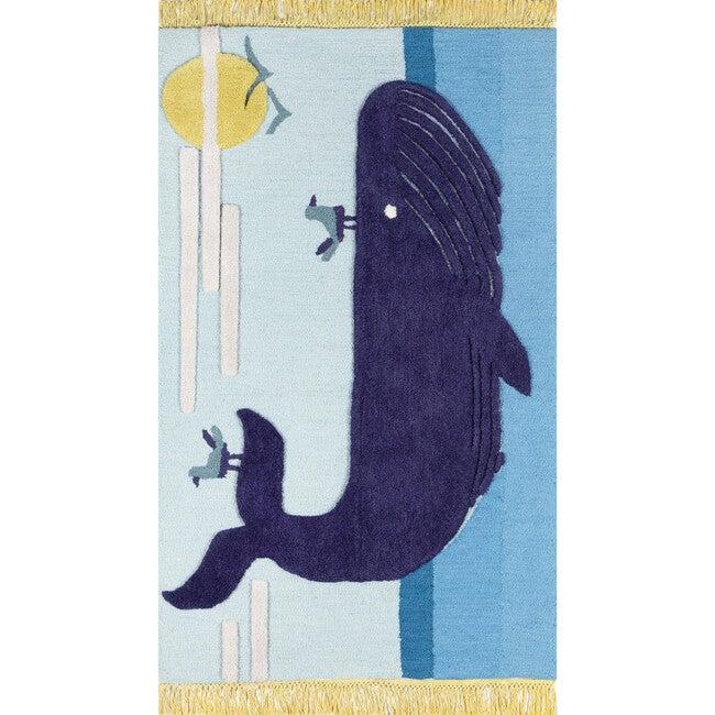 Atticus Noah Hand-Tufted Wool Rug, Blue