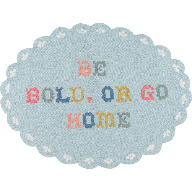 Be Bold or Go Home Accent Rug, Multi