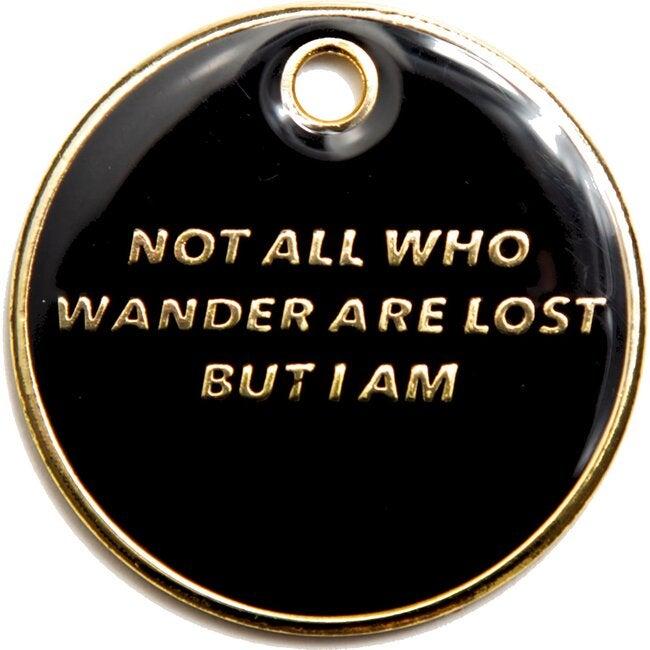Wander Tag, Black and Gold