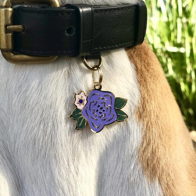 Wild Flower Pet ID Tag