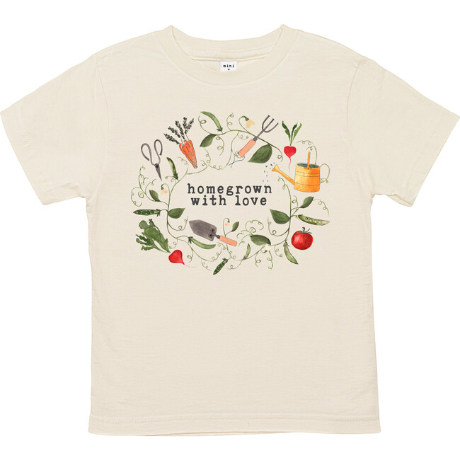 Homegrown With Love™️ - Gardening Edition Unbleached Toddler Tee