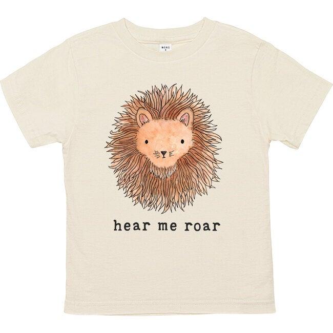 Hear Me Roar Unbleached Toddler Tee