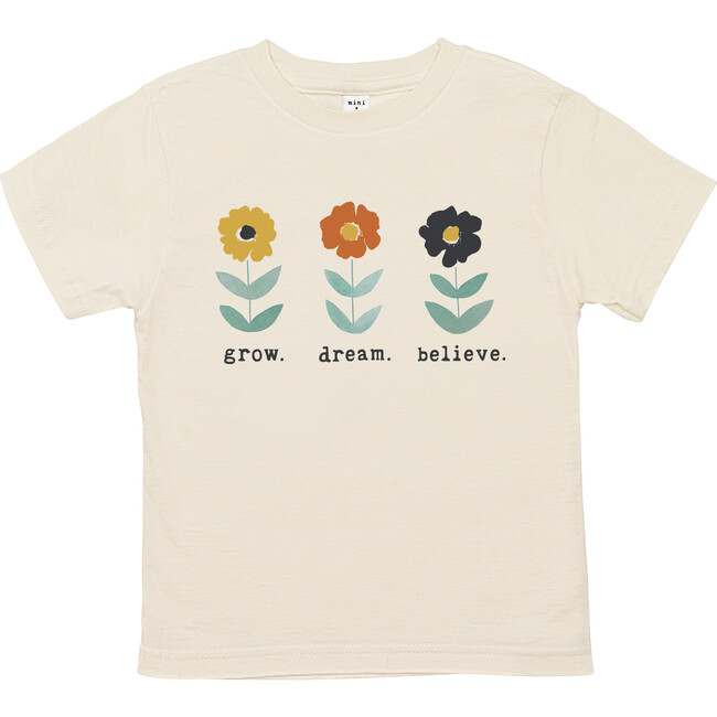 Grow. Dream. Believe Unbleached Toddler Tee