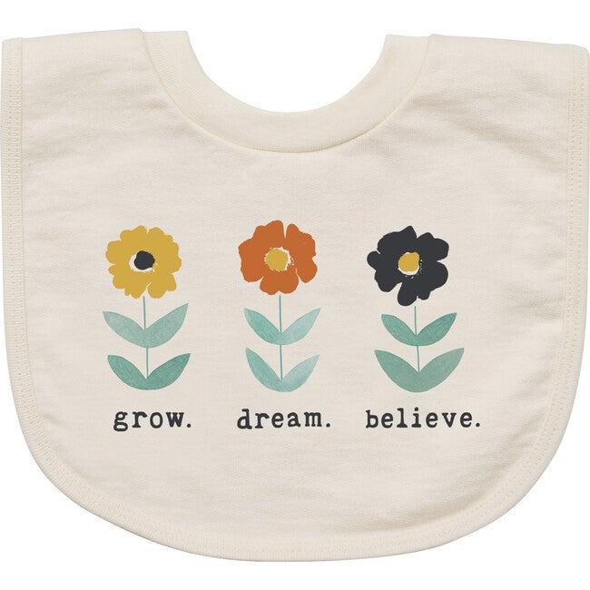 Grow. Dream. Believe Bib