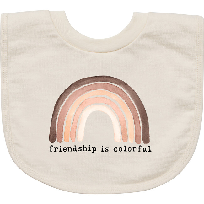 Friendship is Colorful Unbleached Bib
