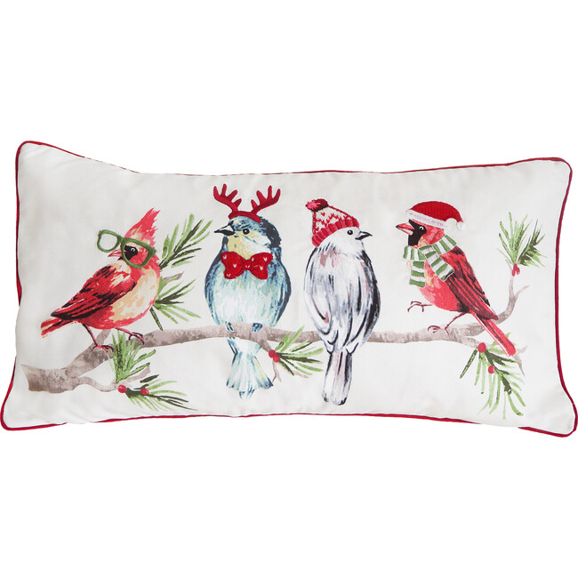 Hipster Birds Christmas Pillow Cover