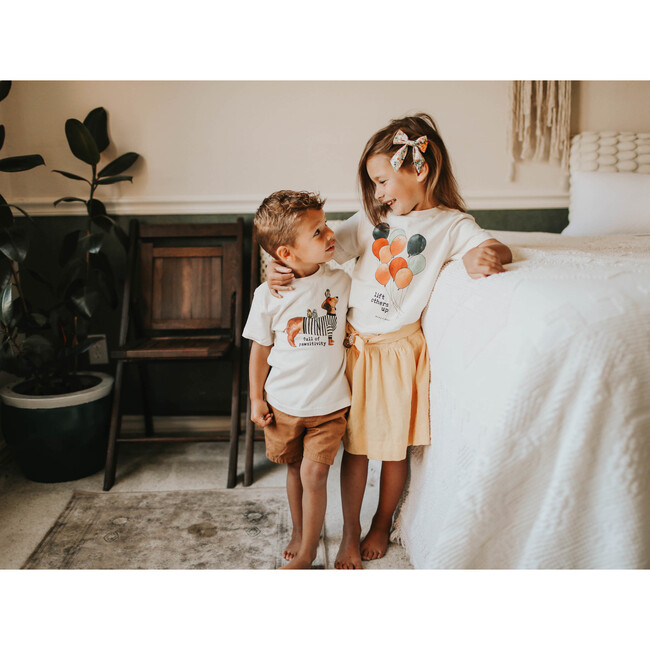 Full Of Pawsitivity Unbleached Toddler Tee