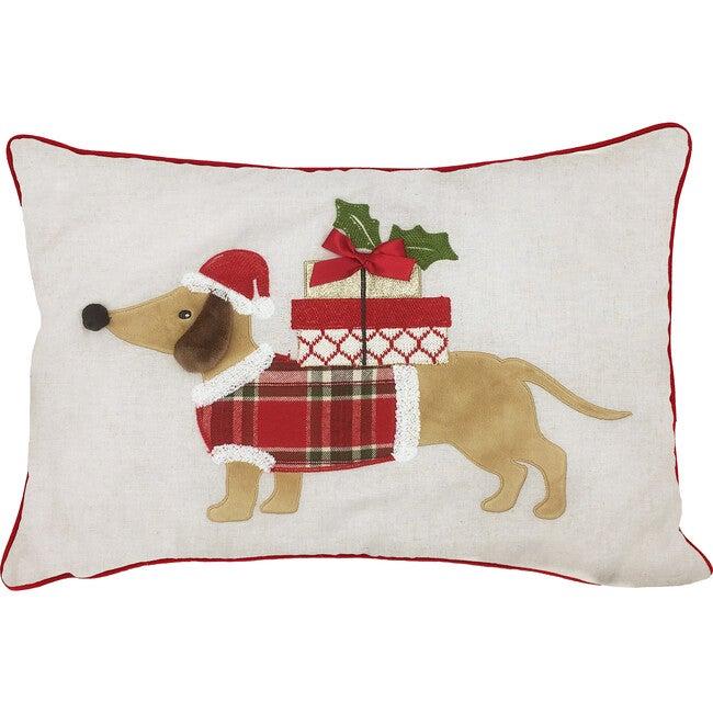 Dachshund Dog Christmas Pillow Cover