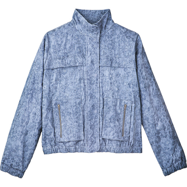Women's Katie Jacket, Blue Smoke Embroidery