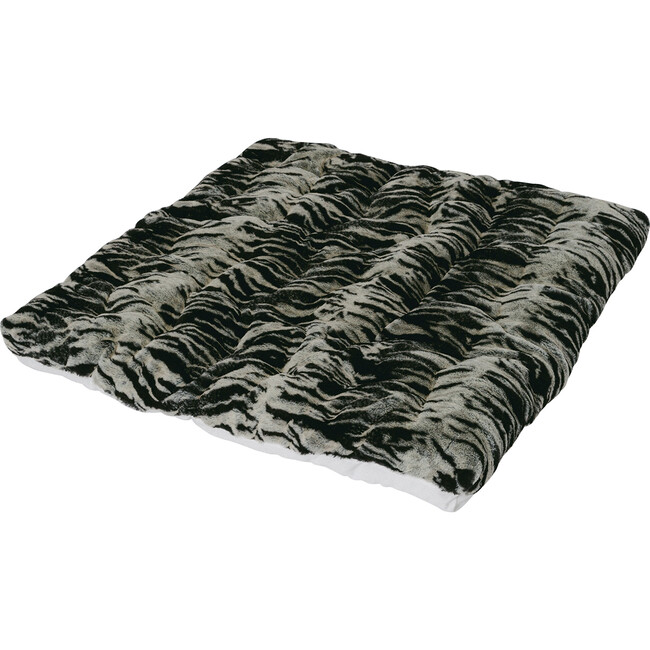 Tiger Faux-Fur Play Mattress, Brown/Black