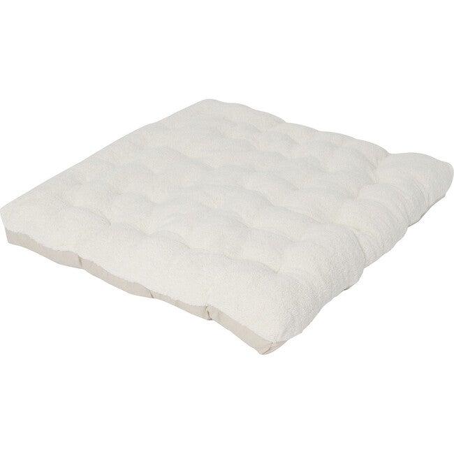 Sherpa Cozy Faux-Fur Play Mattress, Ivory