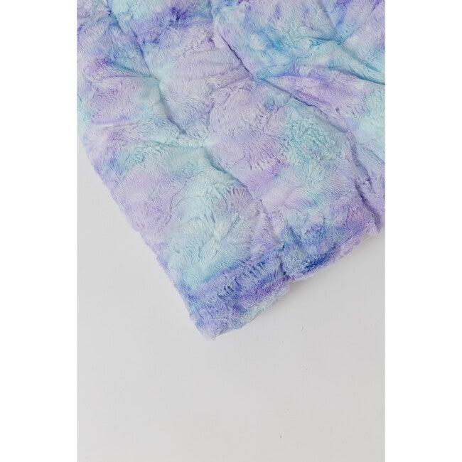 Mermaid Tie-Dye Faux Fur Play Mattress, Multi