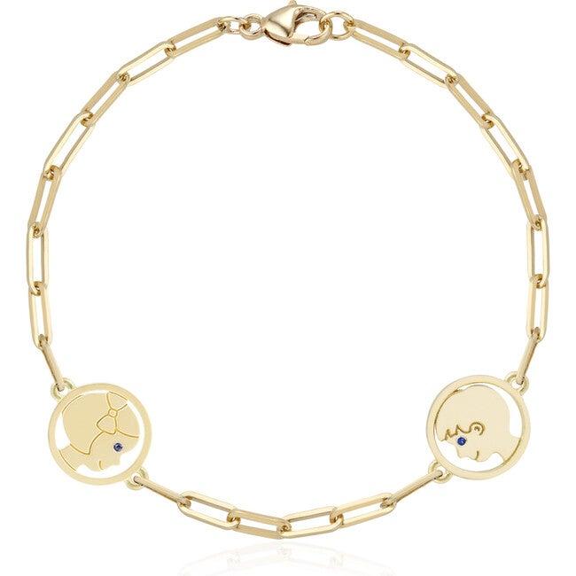 Delicate Two Silhouette Bracelet