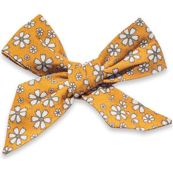 Hair Bow Clip, Daisy Mustard