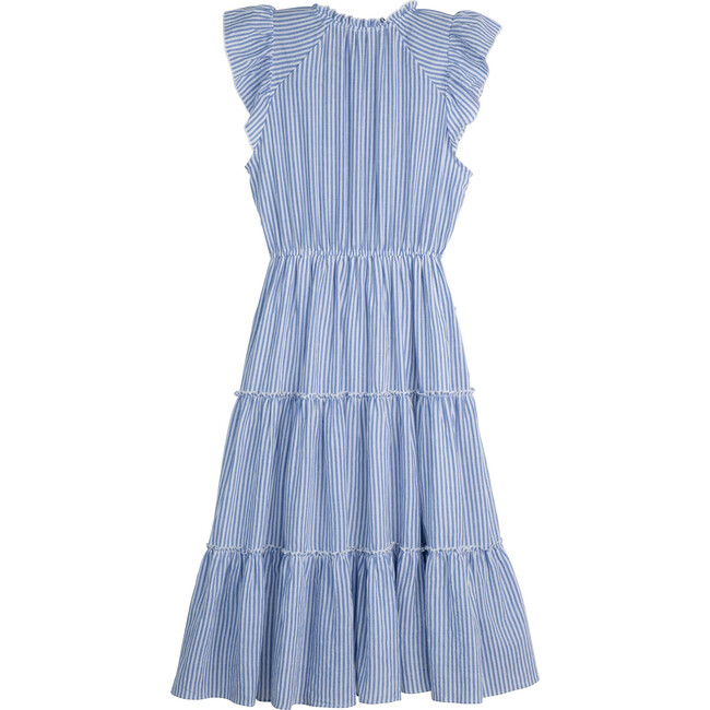 Simone Women's Dress, Blue Stripe