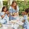 Celine Women's Smocked Dress, Dusty Blue - Dresses - 5