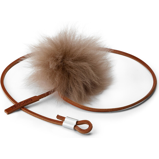 Topo Leather Cat Toy, Taupe