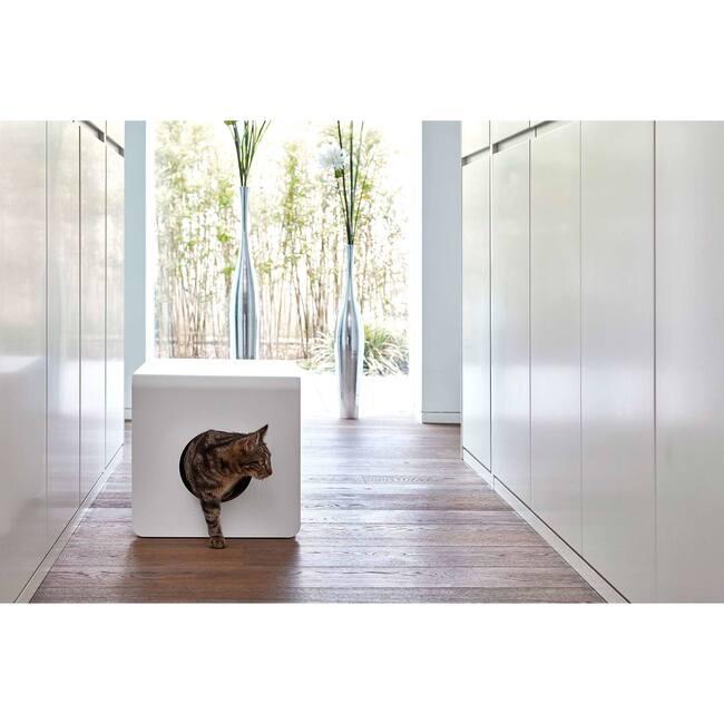 Sito Cat Litter Box, White