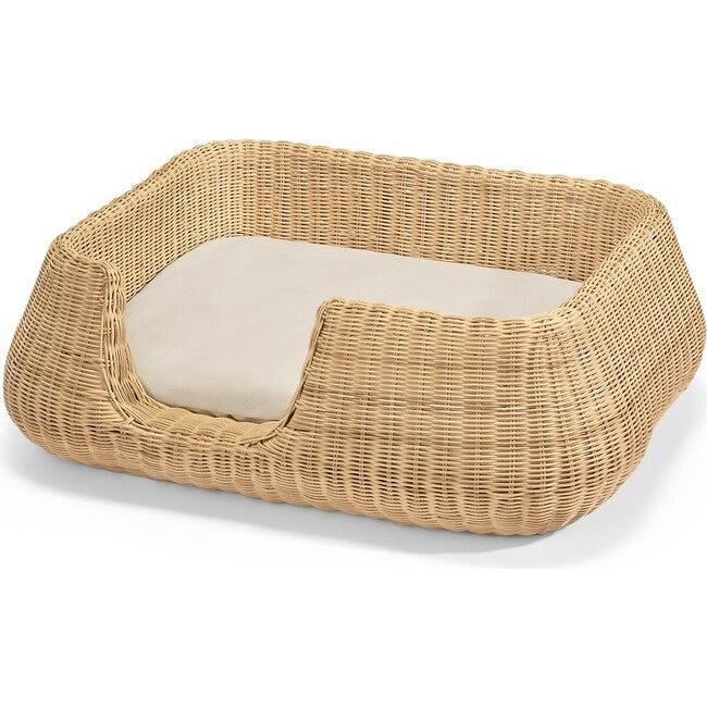 Mio Dog Basket, Natural and Cream