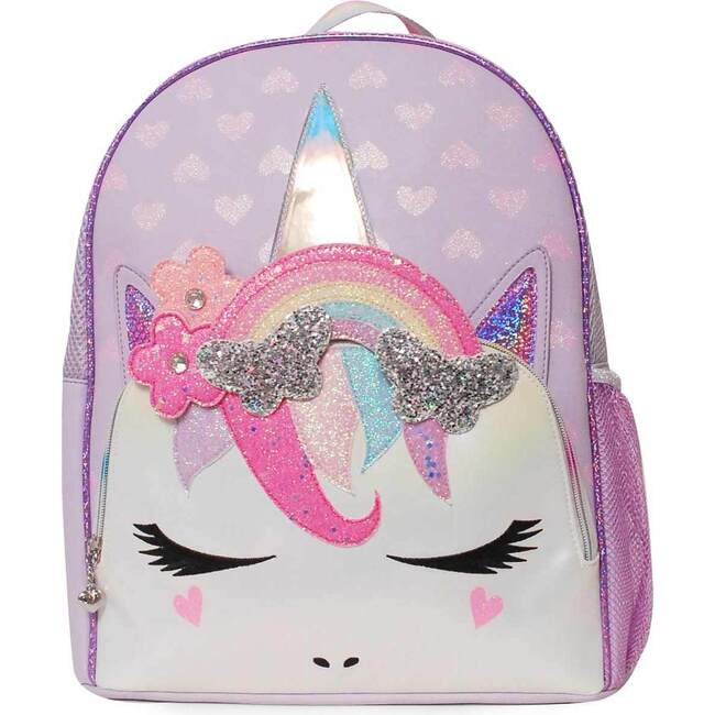 Miss Gwen Rainbow Butterfly Lavender Large Backpack, Purple
