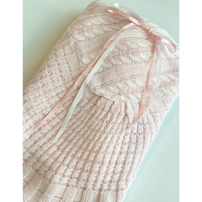 Pink Knitted Blanket