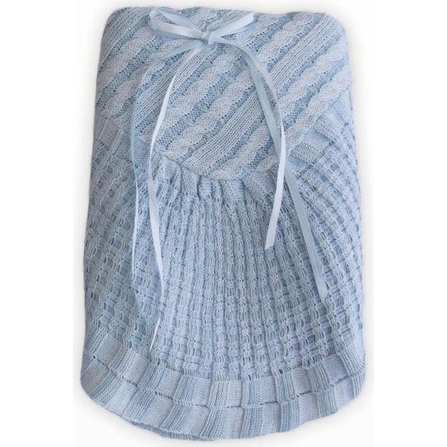Blue Knitted Blanket