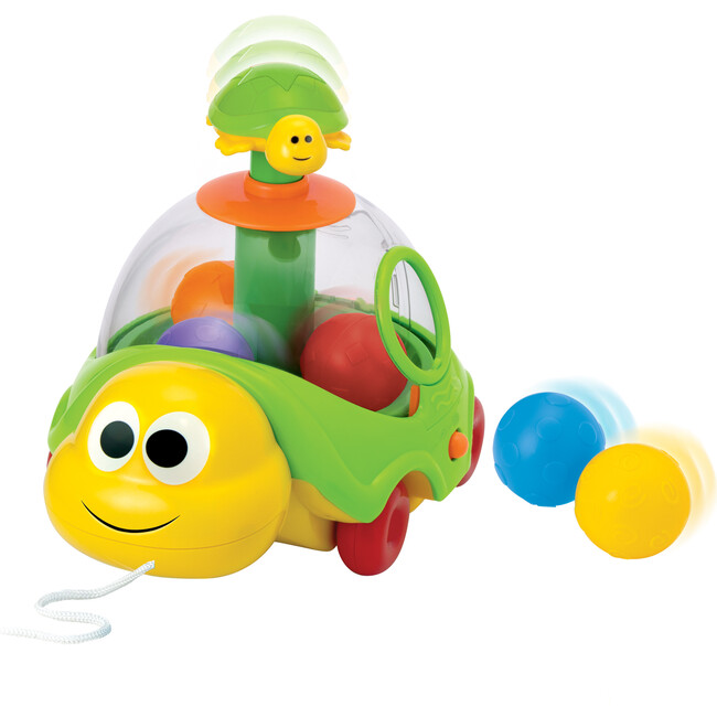 Turtle Spin N Pop Pull Toy - Multicolor
