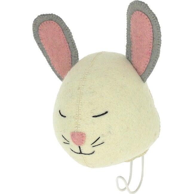 Sleepy Bunny Hook, Cream